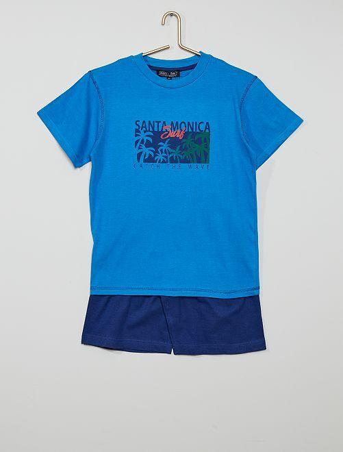 Pijama curto                             Azul/ Marinho