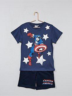 Pijama curto 'Capitão América' - Kiabi