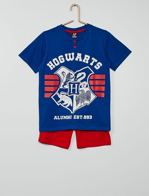 Pijama curto 'Hogwarts' 'Harry Potter'                             Azul/ Vermelho