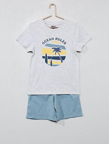 4d273df7f61 Menino 3-12 anos - Pijama curto  oceano  - Kiabi