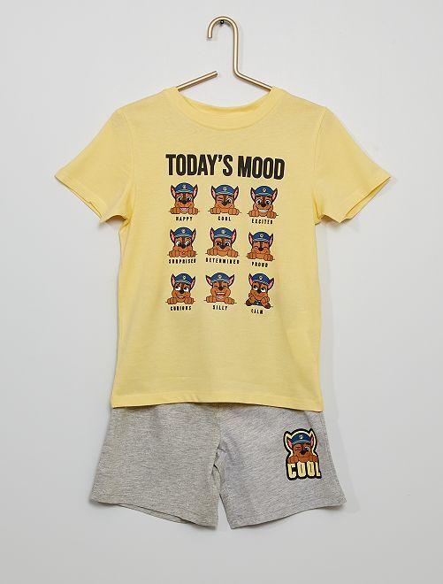 Pijama curto 'Patrulha Pata'                             AMARELO