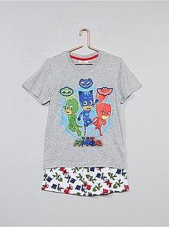 Pijama, roupão - Pijama curto 'PJ Masks' - Kiabi