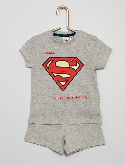 Pijama curto 'Super-homem'                             CINZA