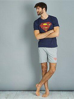 Pijama, roupão - Pijama curto 'Super-homem' - Kiabi