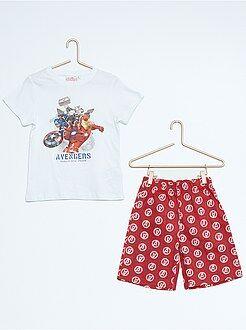 Pijama, roupão - Pijama curto 'Vingadores'