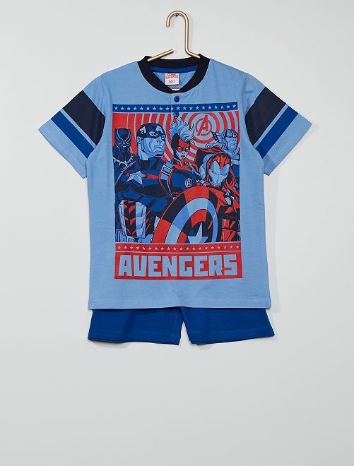 Pijama curto 'Vingadores' 'Marvel'                                         Azul/ Marinho