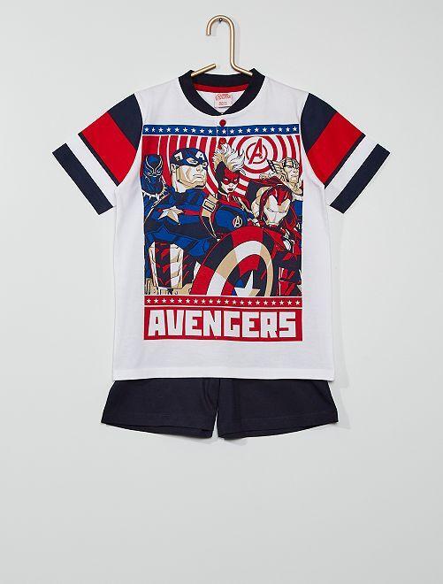 Pijama curto 'Vingadores' 'Marvel'                                         BRANCO