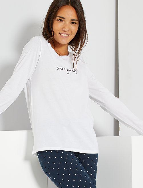 Pijama de conceção ecológica                                             AZUL