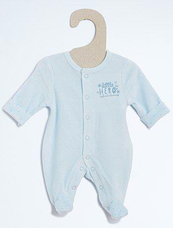 Pijama de veludo - Kiabi