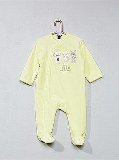 Pijama, roupão - Pijama de veludo com estampado 'animais' - Kiabi