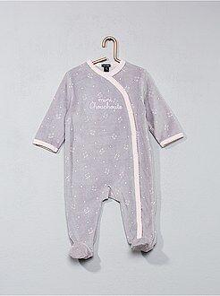Pijama de veludo com estampado de gato
