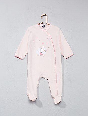 Pijama de veludo com estampado gato - Kiabi