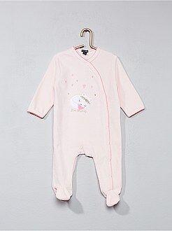 Pijama, roupão - Pijama de veludo com estampado gato - Kiabi