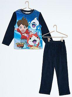 Pijama, roupão - Pijama de veludo de 2 peças 'Yo-Kai Watch'