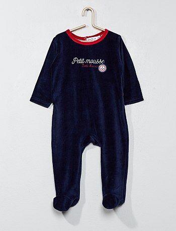 Pijama de veludo estilo marinheiro - Kiabi