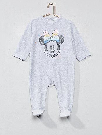 Menina 0-36 meses - Pijama de veludo 'Minnie' - Kiabi