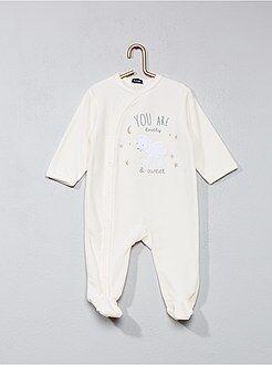 Pijama, roupão - Pijama em veludo com estampado 'ovelha' - Kiabi