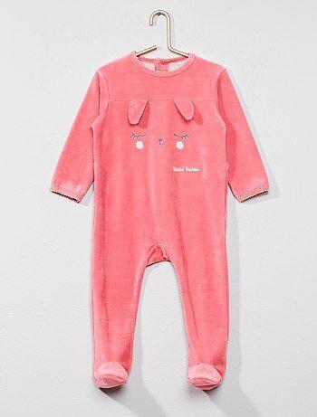 Pijama estampado de veludo - Kiabi