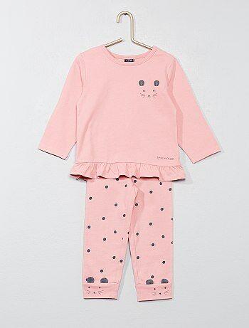 Pijama estampado 'rato' - Kiabi