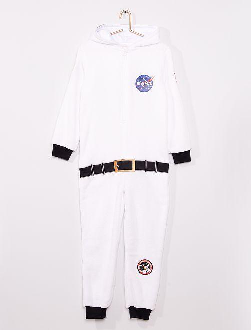 Pijama macacão 'NASA'                             Branco