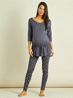 Futura mamã - Pijama pré-mamã com soutien de amamentação integrado