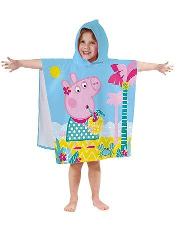 Poncho de banho com capuz 'Porquinha Peppa' - Kiabi