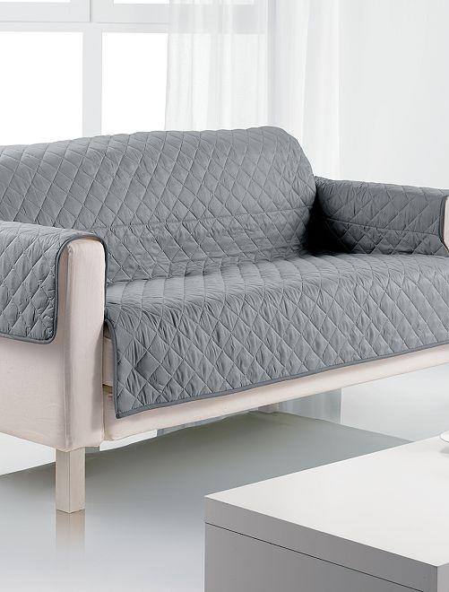 Proteção de sofá de 3 lugares                                         Cinza Casa