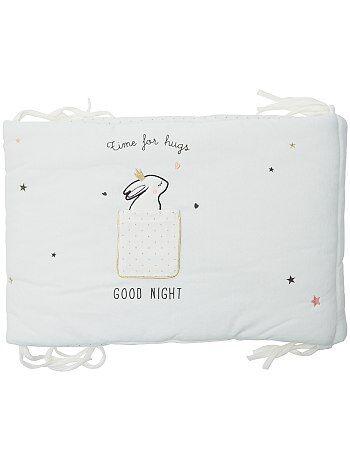 Protetor de cama de veludo com estampado 'coelhos fofinhos' - Kiabi