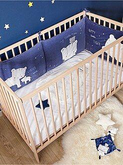 Protetor de cama em veludo estampado 'tigres' - Kiabi