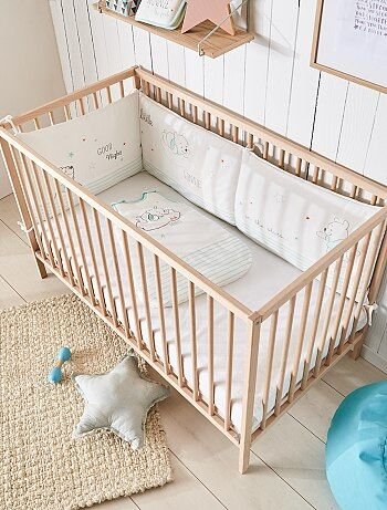 Protetor de cama em veludo estampado 'Winnie the pooh' - Kiabi