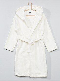 Pijama, roupão - Roupão com capuz absorvente - Kiabi