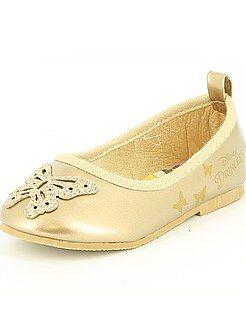 Sapatos bebé - Sabrinas sintéticas douradas 'Princesa da Disney'