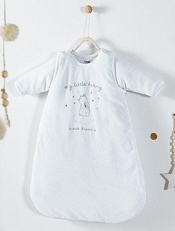 Saco de bebé em veludo com mangas amovíveis - Kiabi