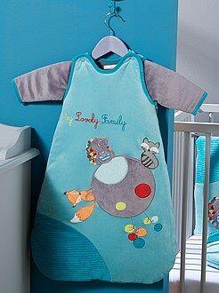 Saco de bebé - Saco de bebé em veludo manga removível - Kiabi