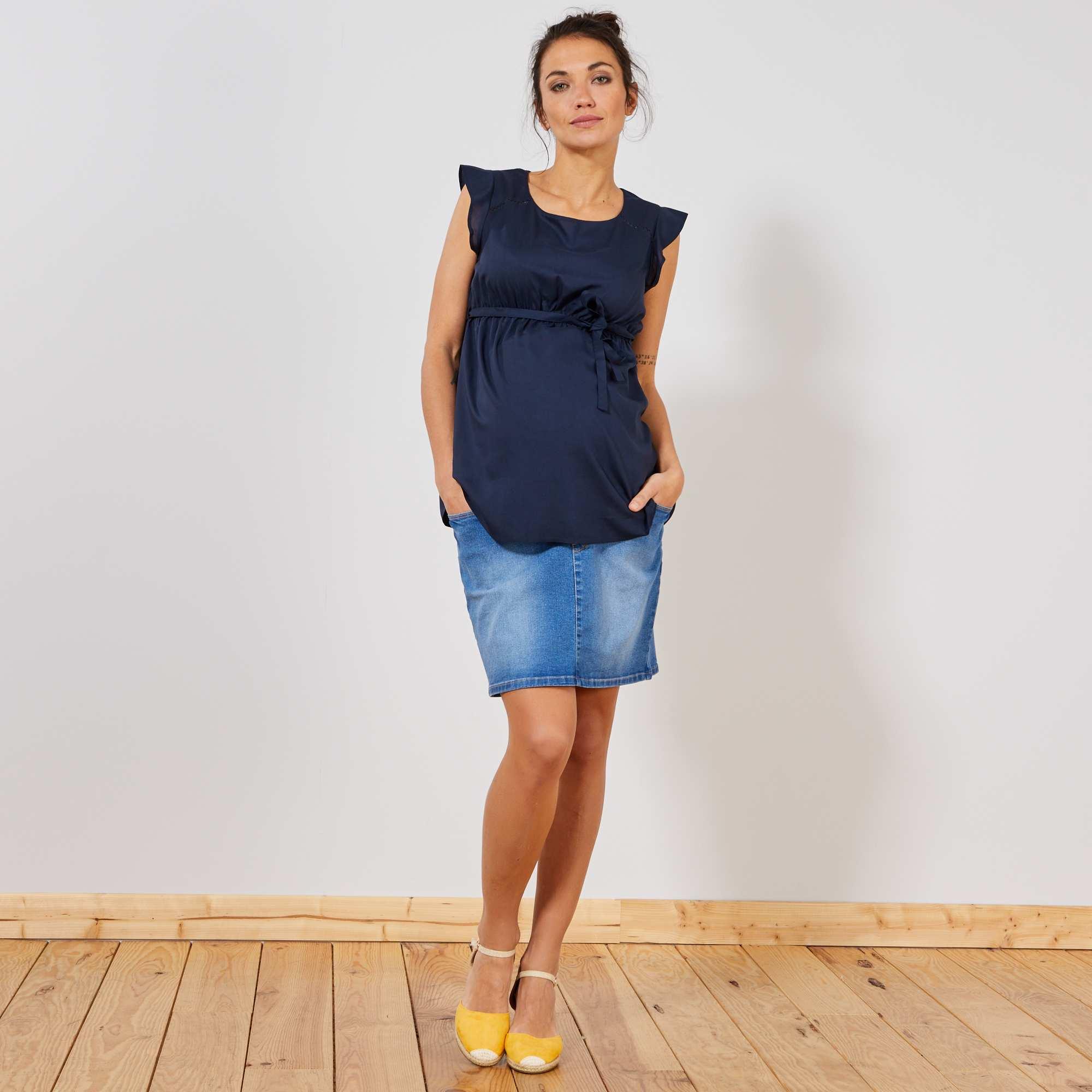 adf726de5 Saia de grávida de ganga Futura mamã - AZUL - Kiabi - 19