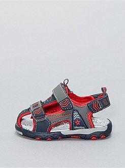 Menino 0-36 meses - Sandálias com tiras de velcro - Kiabi