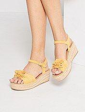 Calçado compensado Calçado   amarelo   Kiabi