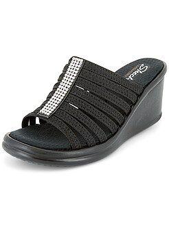 Calçado - Sandálias compensadas em ouropel - Kiabi