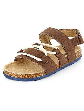 Sandálias de camurça com cordas - Kiabi