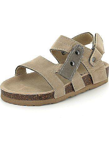 Sandálias de conforto em camurça - Kiabi