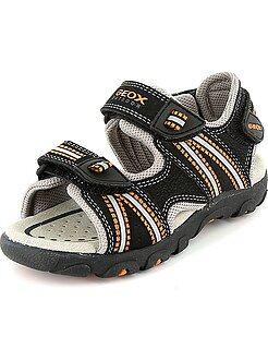 Menino 3-12 anos - Sandálias de desporto em pele sintética - Kiabi