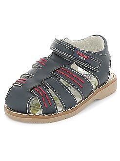 Sapatos menino - Sandálias de pele - Kiabi