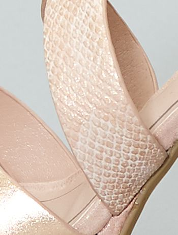 35679921a5 ... Sandálias de salto alto iridescentes vista 6 · Sandálias de salto alto  iridescentes bege Calçado