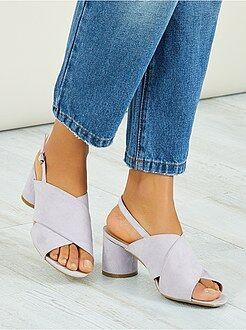 Sandálias de salto alto - Sandálias de salto alto redondos - Kiabi