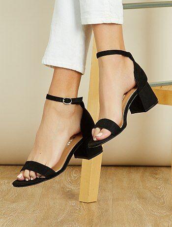 Sandálias de salto de camurça - Kiabi
