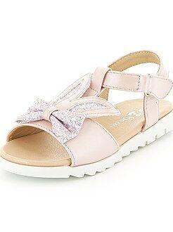 Sandálias em pele sintética - Kiabi