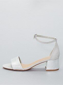 Sandálias iridescentes com saltos - Kiabi