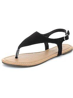 Calçado marrom - Sandálias pé descalço em camurça - Kiabi