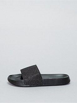 Sandálias rasas brilhantes - Kiabi