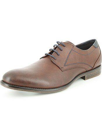 Sapatos citadinos em pele sintética - Kiabi